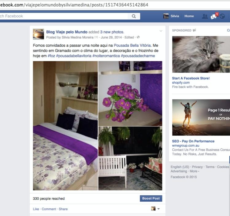 Parceria Blog e pousada hotel