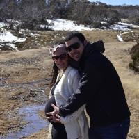 Neve na Austrália e grávida