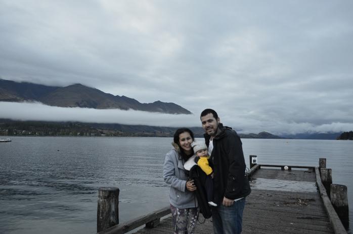 família na nova zelandia viajando