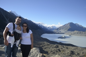 geleira na Nova Zelandia familia