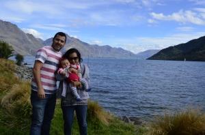 Família viajando Nova Zelandia