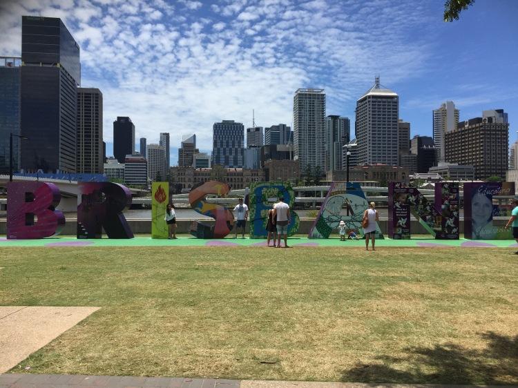 Brisbane letreiro colorido