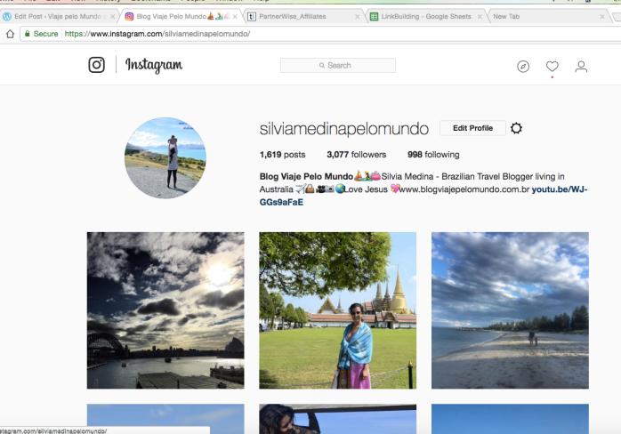 fotos instagram viagens