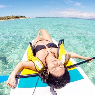 Fiji na agua praia