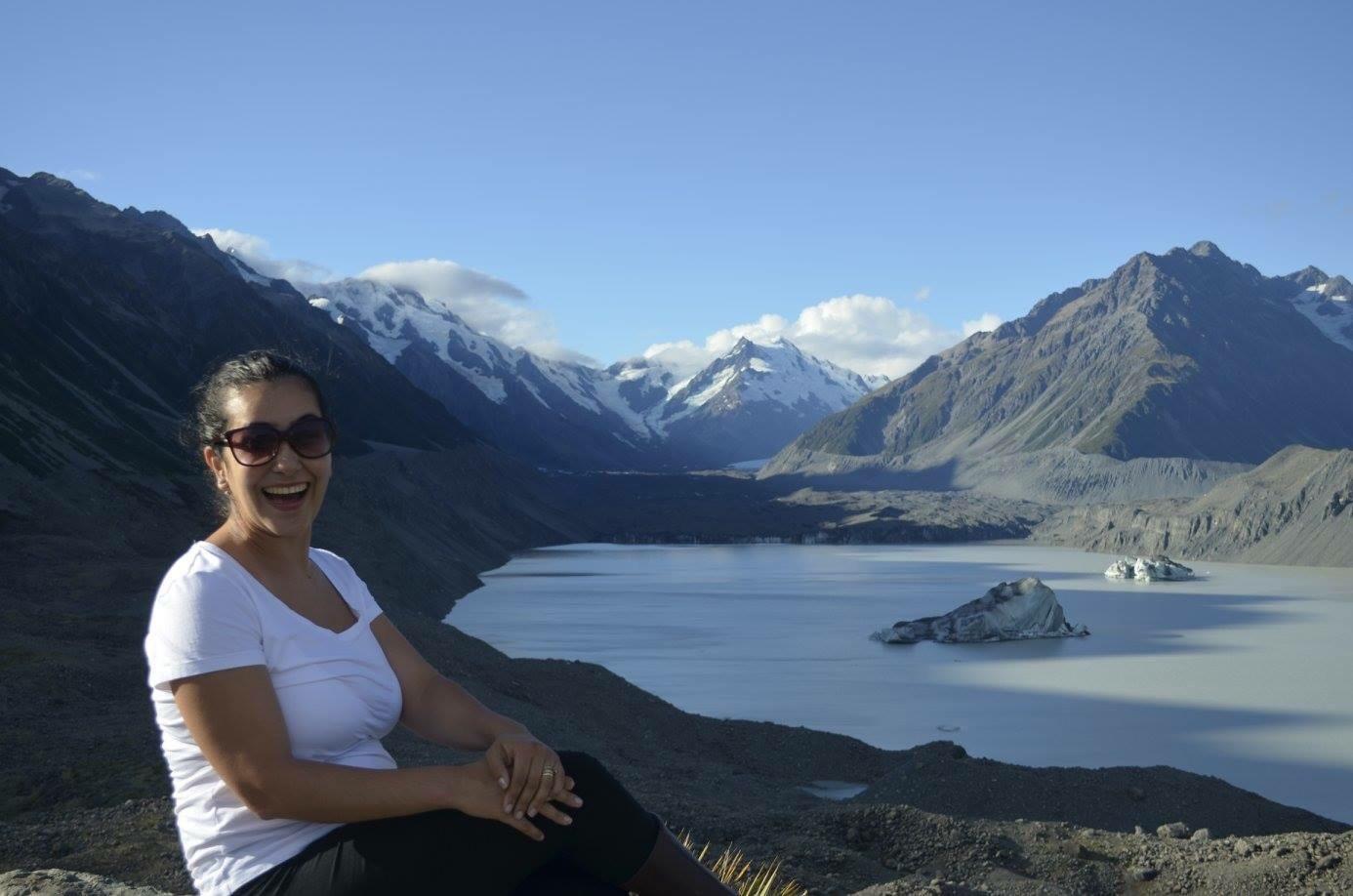 montanhas nova zelandia gelo