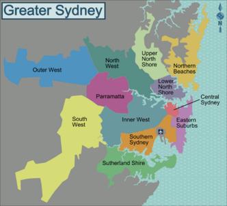 Mapa Sydney onde ficar