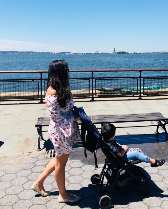 Nova york com criança